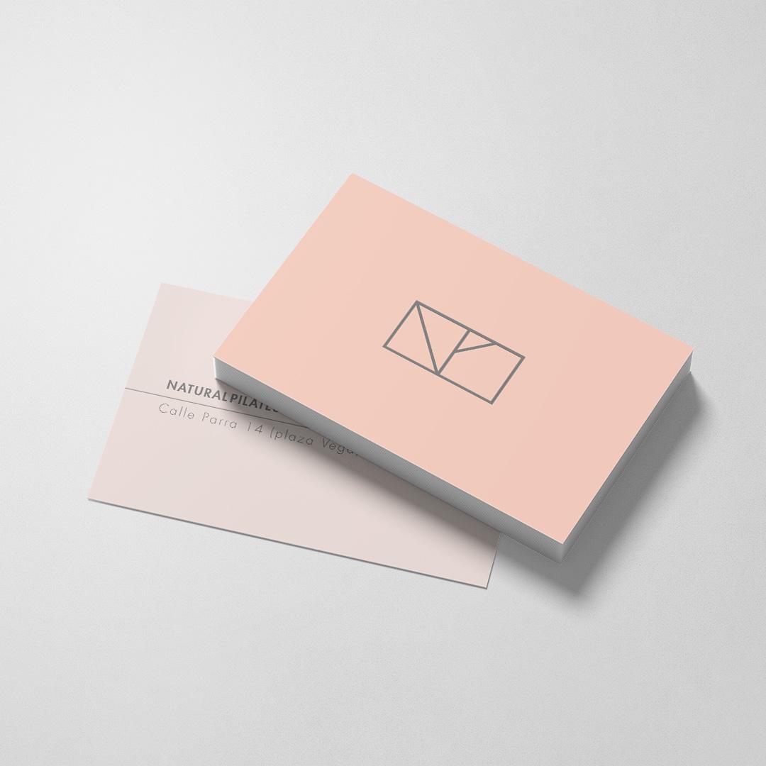 diseño de tarjetas natural pilates